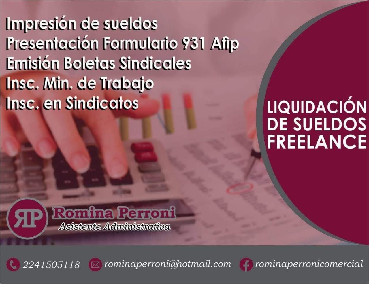 Liquidación de sueldos freelance