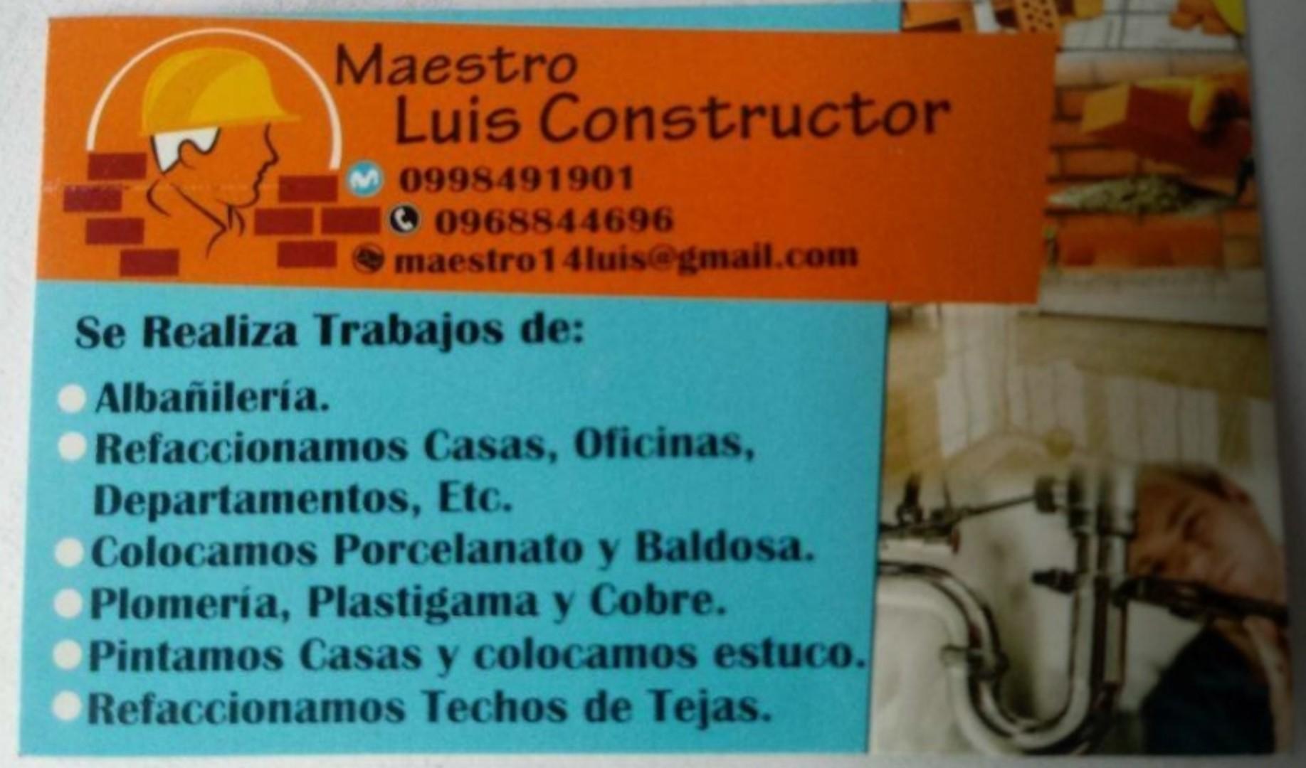Maestro construtor AlbañileriaPlomeroGymsup Cerrajeria0992896444
