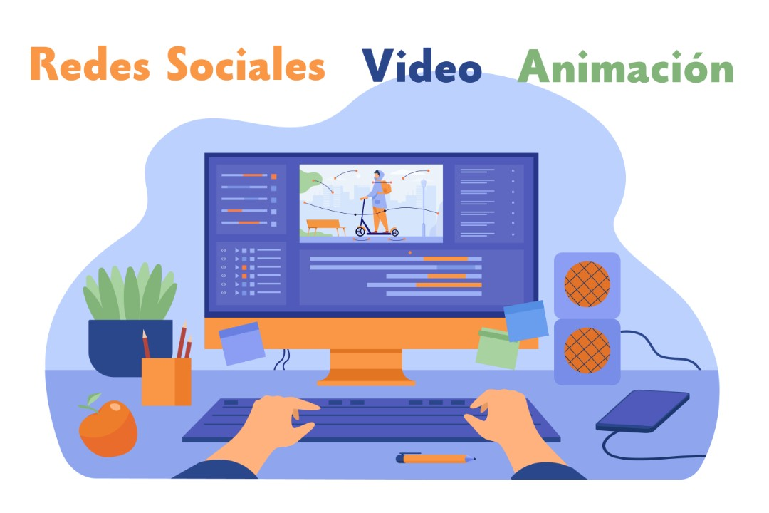 Edición de video y diseño de contenido para redes sociales.